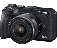 Canon EOS M6 MK II 15-45mm F3.5-6.3 EF-M IS STM Black
