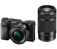 Sony Alpha A6000 16-50mm F3.5-5.6 OSS PZ + 55-210mm F4.5-6.3 OSS Black